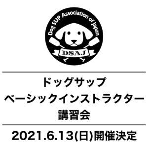 ドッグサップベーシックインストラクター講習会 6/13(日)開催決定